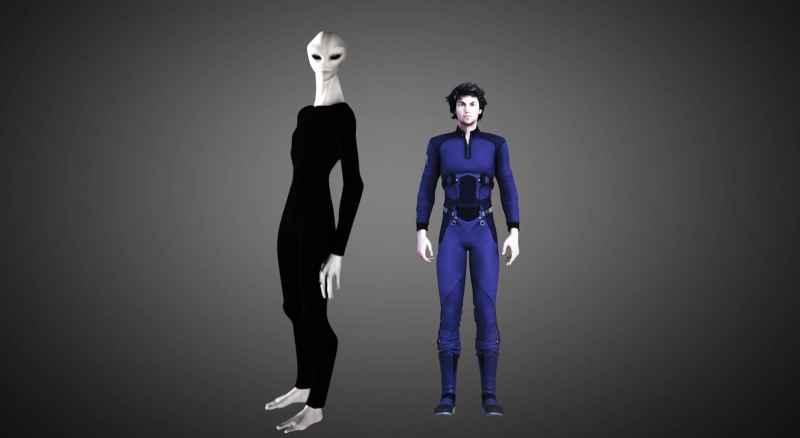 33 Tall Grey And Human
